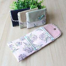 Lovely Napkin Flower Pattern Organizer Sanitary Towel Bag Holder Purse