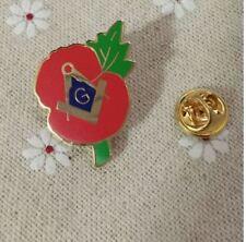 Pin 's Franc Macon Oeillet Lapel Badge G Flower Freemason Masonic Poppy Rouge