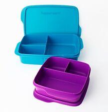 TUPPERWARE Brotdose Lunchbox Clevere Pause 1L Türkis + 550ml Fuchsia