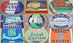 Vintage Hotel Luggage / Baggage Label (c)