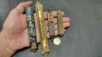 VINTAGE solid Brass Jerusalem Mezuzah Israel USED set of 4