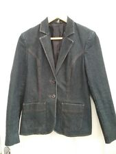 M & S Womens Dark Indigo Denim Blazer Jacket size 10 New