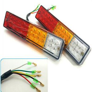 Waterproof 3 Colors 20 LED Truck Taillight Stop Brake Turn Signal Light Lamp 12V