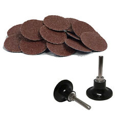 "100 2"" Roloc A/O Quick Change Sanding Disc 60 Grit and Mandrel Disc Holder"