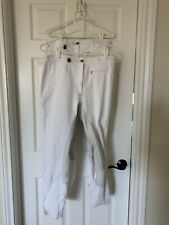 2 Pair Bundle Pikeur Lugana Full seat Breeches Pre-0wned Size GER 46/ US34 White