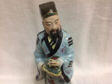 ANTIQUE ASIAN PORCELAIN MAN STATUE UNIQUE  Chinese