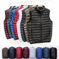 Men's Duck Down Jacket Vest Sleeveless Packable Lightweight Winter Outwear Coats