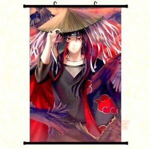 Großes Naruto Itachi Uchiha Stoffposter Rollbild Wallscroll Anime Poster 60x90CM