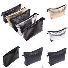 Leder Make Up Kosmetik Tasche Handtasche Organizer Kulturbeutel*Schminktasche-