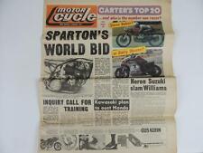 UK Motor Cycle Newspaper Jan. 1977 Road Race Sparton Kawasaki Honda Yamaha L1133
