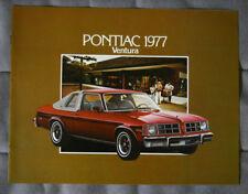 PONTIAC VENTURA 1977 Dealer Brochure - French - Canadian Market