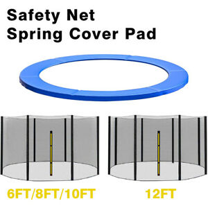 Trampoline Replacement Safety Net Enclosure Spring Cover Padding Pad 6 8 10 12FT