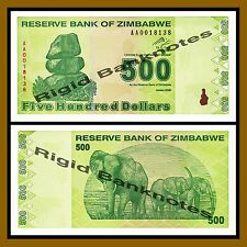Zimbabwe 500 Dollars, 2009 P-98 Revised Trillion Unc