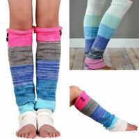 Music Legs Rainbow sheer stripes knee high Socks 5526 O//S