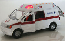 Alloy Model Toys 1/32 Diecast Car White Ambulance Medical vehicles w/Light&Sound