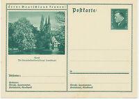 DT.REICH Friedrich Ebert 6 Pf 1932 Bildpost-GA SOEST – die Kunststadt