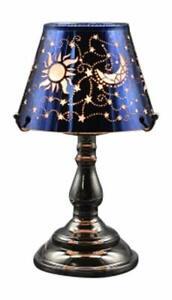 Electric Oil Wax Tart Melt Warmer Lamp Blue Celestial Design Touch Control