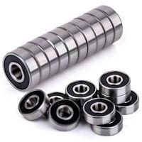 10 Stück Kugellager 608-2RS Miniatur Rillenkugellager 8x22x7mm Bearing Stahl