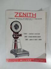 Zenith. Fabbrica bascule automatiche di precisione. Bilance, affettatrici, 1955?