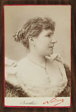 L'actrice de théâtre Alice Berthier, Photo cabinet card Nadar Paris.