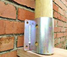 Staffa a muro per pali tondi Ø 8 e 10 cm per fissaggio a sospensione