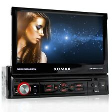 AUTORADIO CON BLUETOOTH MANOS LIBRES 18cm PANTALLA TACTIL USB SD MP3 1DIN SIN CD
