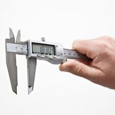 "6"" 150mm Digital LCD plata acero inoxidable calibre Vernier Caliper micrómetro"