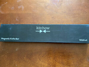 Kitchow-14 inch Walnut Magnetic Knife Strip-Strong Magnet Wall Mount-Knife Rack