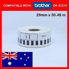 5 x ROLLS DK22210 DK 22210 BROTHER COMPATIBLE CONTINUOUS LABELS 29mm x 30.4m