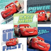 Cars Stickers x 5 - Disney Cars - Lightning McQueen - Cars Birthday Party Disney