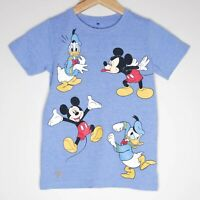 Disney Mickey Mouse Donald Duck Graphic Kids Unisex Shirt Size 7 Blue