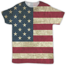AMERICAN FLAG ALL OVER PRINTED T SHIRT IDEAL GIFT BIRTHDAY PRESENT UNISEX TSHIRT