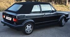 VW Golf 1 Cabrio Tettuccio Reclinabile Tessuto Sonnenland nero nuovo