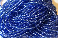 11/0 HANK SILVER LINED LIGHT SAPPHIRE BLUE CZECH GLASS SEED BEADS