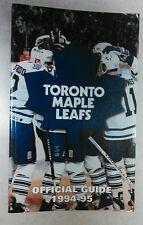 Vintage Hockey 1994-95 TORONTO MAPLE LEAFS Media Guide Rare NHL