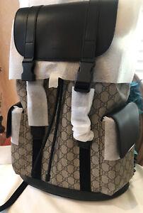 HOT!* Gucci GG Supreme Black Backpack, Bag 450958 BRAND NEW, NEVER USED!