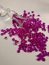100 Fuchsia Acrylic Diamond Confetti 10 mm Limited Supply
