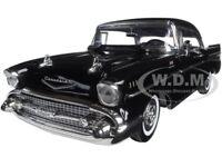 "1957 CHEVROLET BEL AIR ""TIMELESS CLASSICS"" BLACK 1/18 DIECAST BY MOTORMAX 73180"