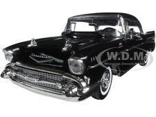 "1957 CHEVROLET BEL AIR ""TIMELESS CLASSICS"" BLACK 1/18 DIECAST BY MOTORMAX 73180"