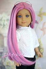 American Girl doll Sweet Pink Premium wig Fits most 18'dolls Blythe Og