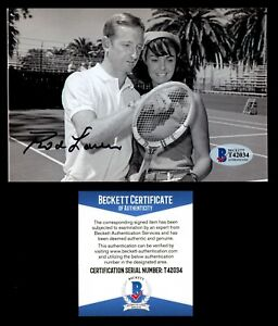 Rod Laver signed autograph 4x6 Photo Tennis Hall of Fame Beckett Authentic BAS