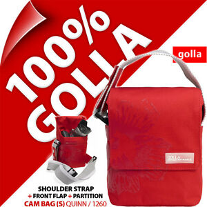 Golla Camera Case + Strap Red for Compact Mirrorless Camera, Semi SLR, Camcorder