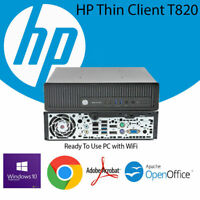 HP Elite T820 TV PC i5 i7 1TB SSD 16GB Desktop Fast Computer USFF Win10 WiFi