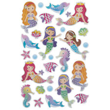 Mermaid Puffy Stickers Papercraft Scrapbook Planner Party Supply DIY Craft