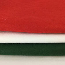 Felt Fat Quarters Christmas Red, Green and white