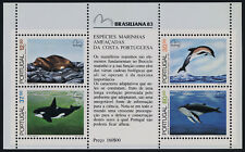 Portugal 1578a MNH Endangered Sean Mammals, Dolphin, Seal, Humpback Whale