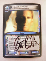 Autographed 2nd edition Star Trek ccg - Jonathan Archer  (Scott Bakula)