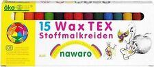 15 Stoffmalkreiden Stoffmalstifte ökoNorm Textil Wax Tex neu OVP
