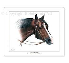 Joe Hancock famous American Quarter Horse art portrait painting western rodeo