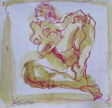 Francine AUVROUIN Compositon 90 Ecole Paris Femme Nue Van Gogh Expressionnisme